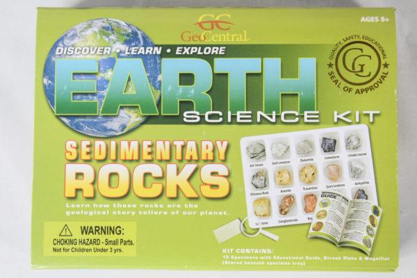 Earth Science kit of sedimentary rocks
