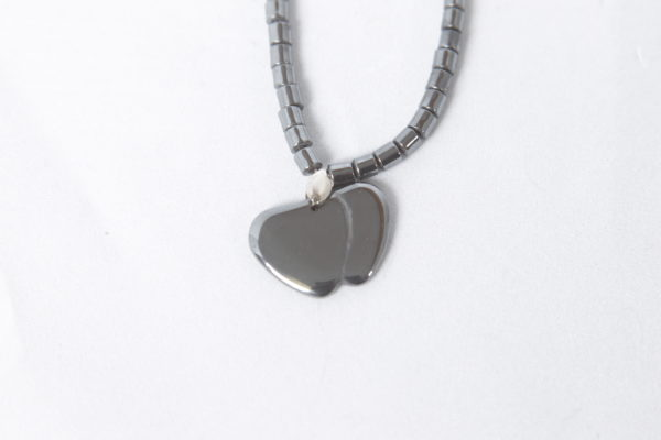 Hematite Double Heart Necklace