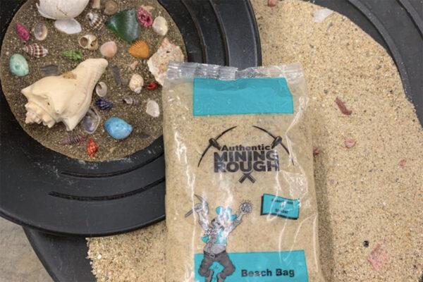 Teal Beach sea shell Mining Bag