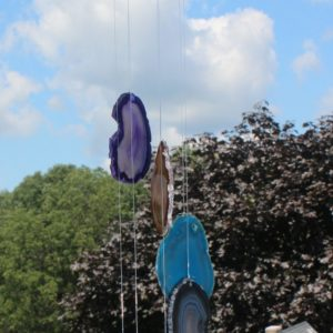 Dyed Agate Slab Wind Chime