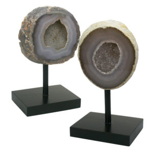 Polished Brazilian Geodes on Stands
