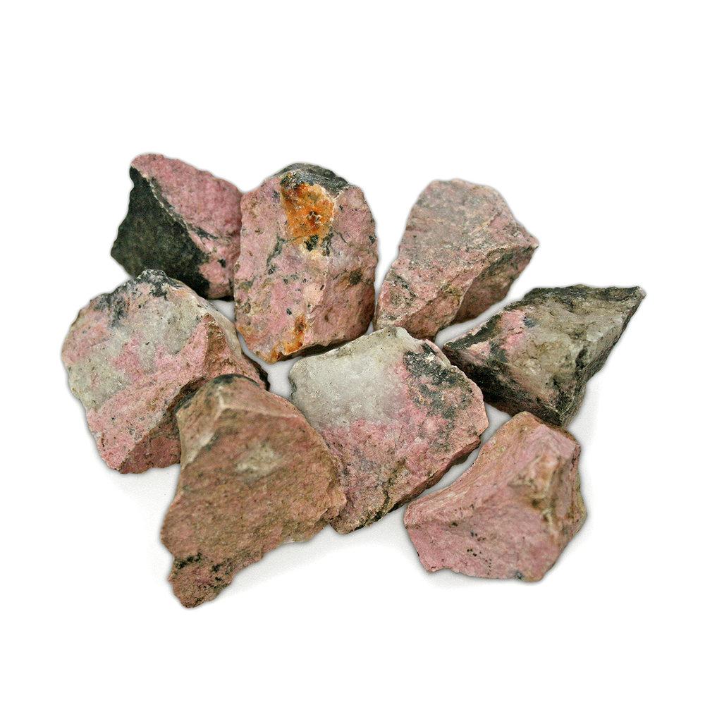 Rhodonite Rough Assorted Rock Geode Rocks