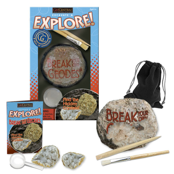 Excavate & Explore Break Your Own Geode Kit