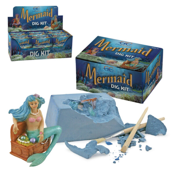 Mermaid Dig Kit and mermaid with dig block and tools
