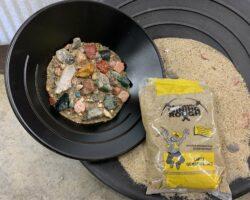 Large Gemstone Bag mining kit and sand