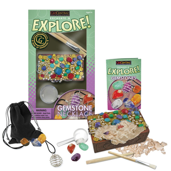 Excavate & Explore Gemstone Necklace Kit