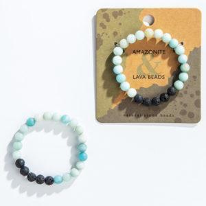 Amazonite Lava Bracelets