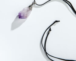 Amethyst Point Necklace on cord