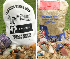 This is a photo of the BB+ and Patriot Mining Rough Bags