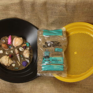 Teal Bag ( Sea Shells ) + Sifter