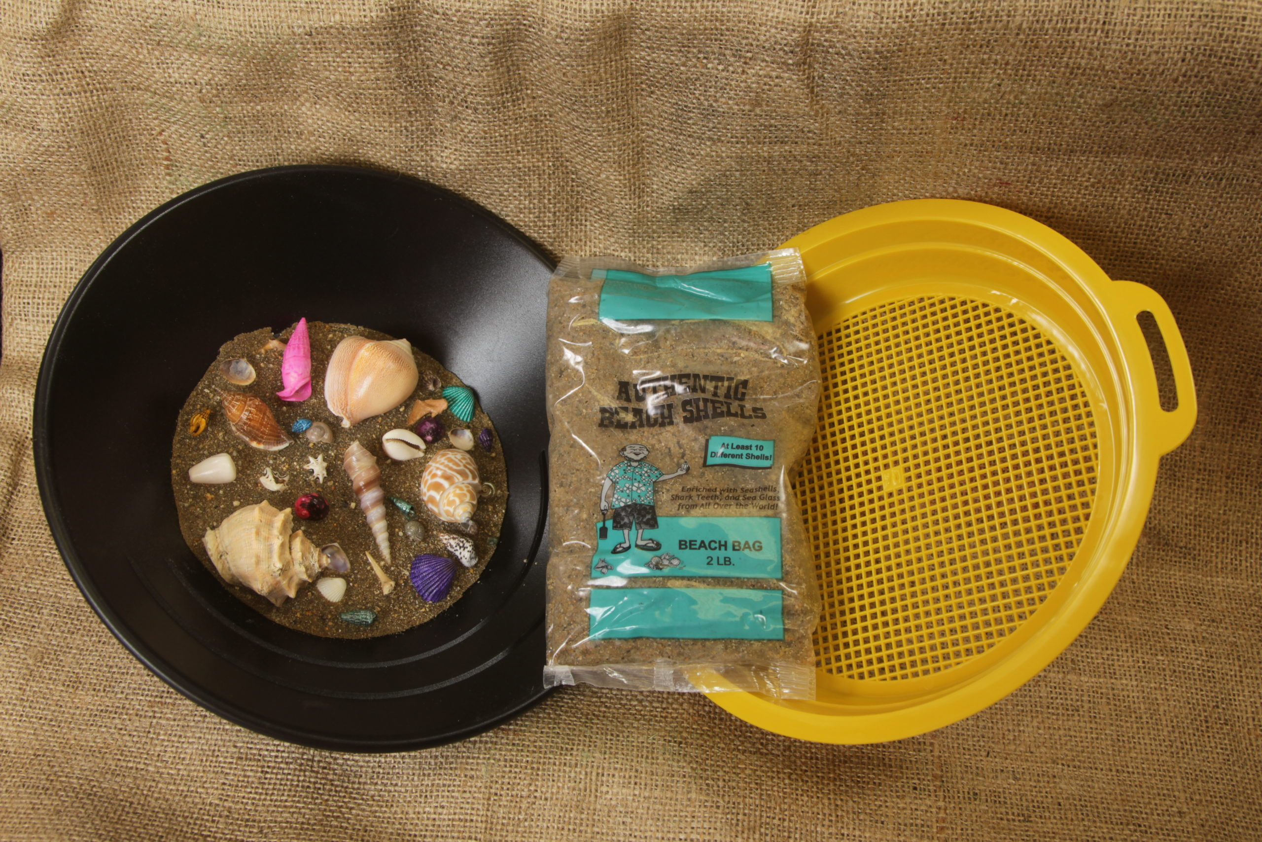 Teal Bag Seal shells kit with sifter