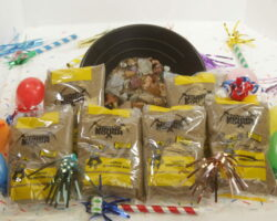 Gemstone Party Pack of six mining bags of sand and gemstones