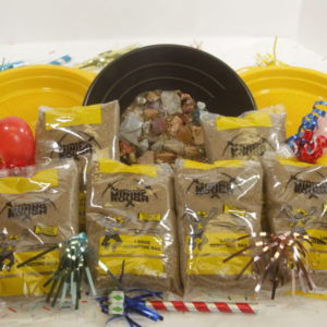 Yellow bag Party pack (Large Gemstone) 6 bags 6 sifters