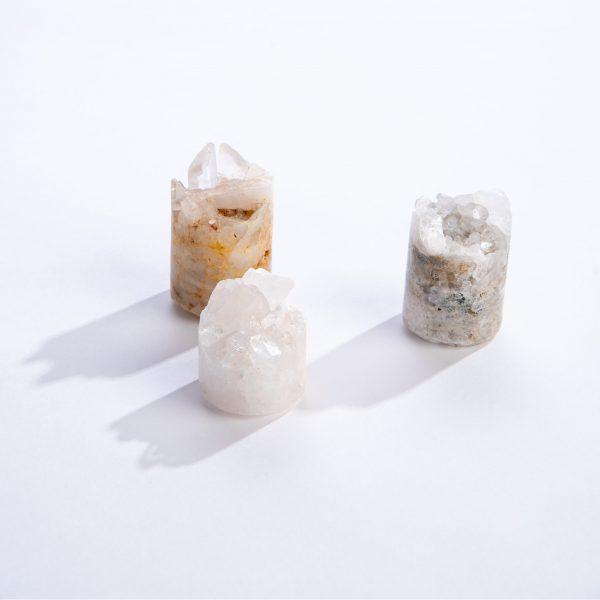 Clear Quartz Crystal Cupcakes top view