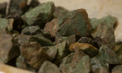 Rough Green Chrysoprase Gems 1 pound close view