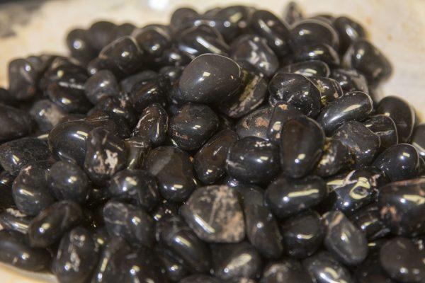 Pile of Tumbled Obsidian Apache Tears