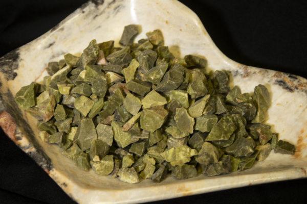 Pile of Grass Jasper Rough Gems 1 pound top view