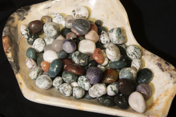 Pile of Natural Assorted Stones 1 pound top view