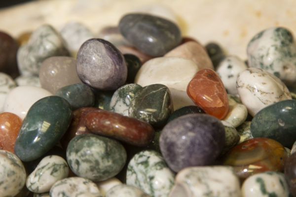 Pile of Natural Assorted Stones 1 pound close view