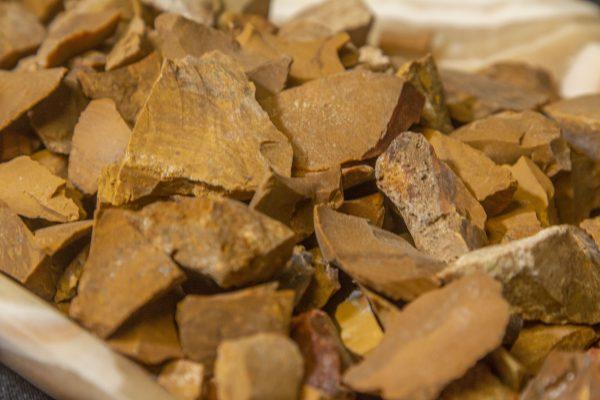Rough Yellow Jasper Stone 1 pound close view