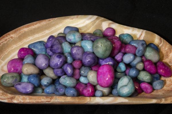 Easter Egg Rock Tumbled Stone 1 pound top vie