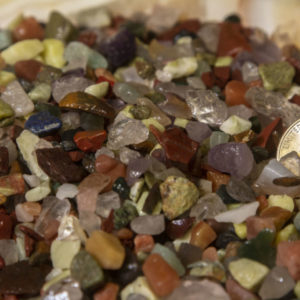 Natural Assorted Tumbled Stone Chips, 1/2lb