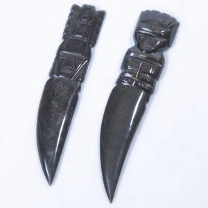 Black Gold Obsidian Letter Opener, Dagger