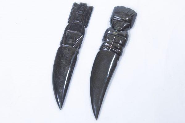 Black Gold Obsidian Letter Opener Dagger