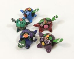 Five Assorted Looseneck Turtle Figurines