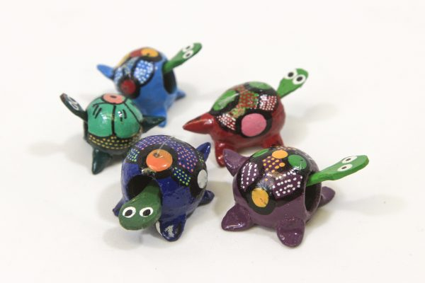 Five Assorted Looseneck Turtle Figurines side view