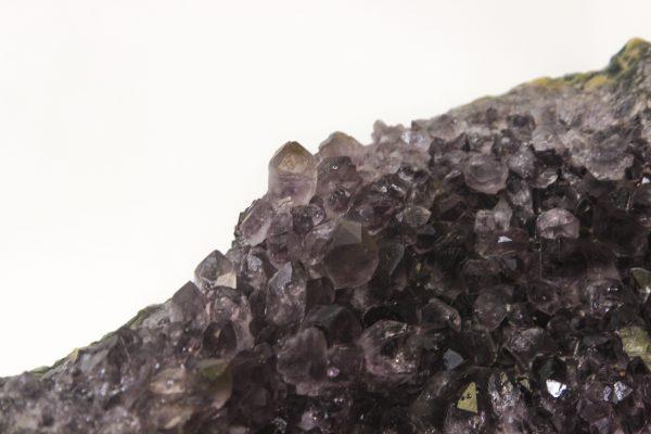 Amethyst Crystal Cluster Geode top view