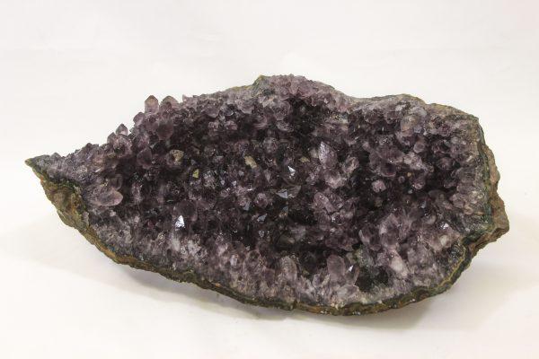 Large Amethyst Crystal Cluster Geode top side view