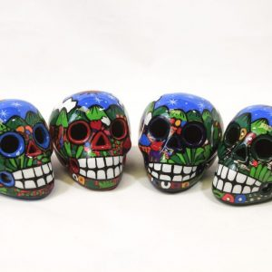 "Day of the Dead Sugar Skull 4"" Hand Painted"
