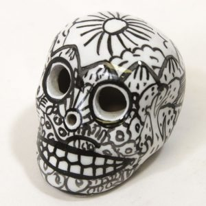 "Day of the Dead Sugar Skull 2"" Hand Painted"