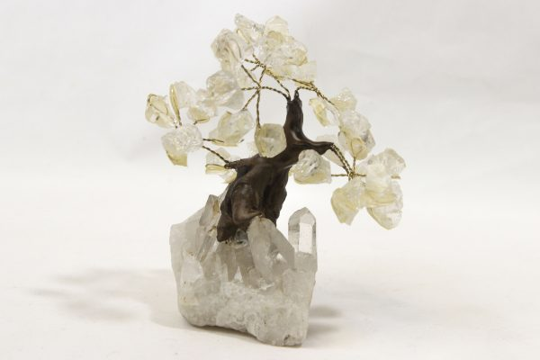 Small Crystal Point Gem Trees front view