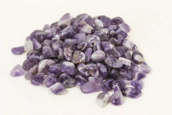 Pile of Tumbled Amethyst Crystals