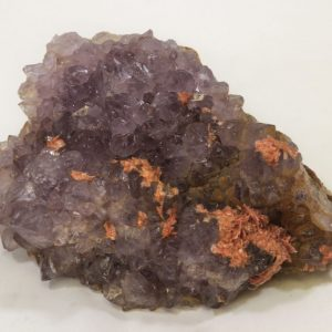 Amethyst Cluster with Barite Growth