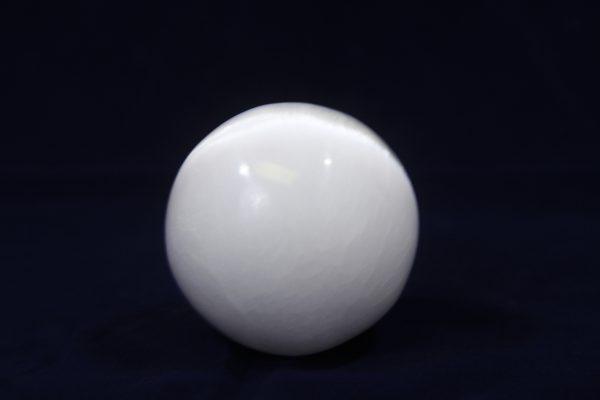 Polished Selenite orb ball