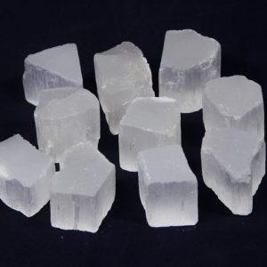 Selenite Raw Cubes 10 Pack