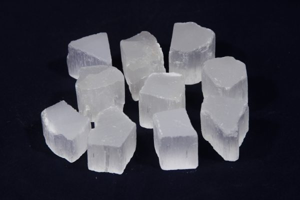 10 Pack of raw Selenite cubes