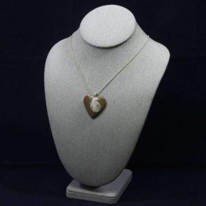 Ammonite Fossil Heart Pendant