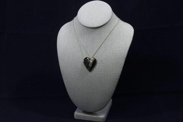 Orthoceras Fossil Heart Pendant