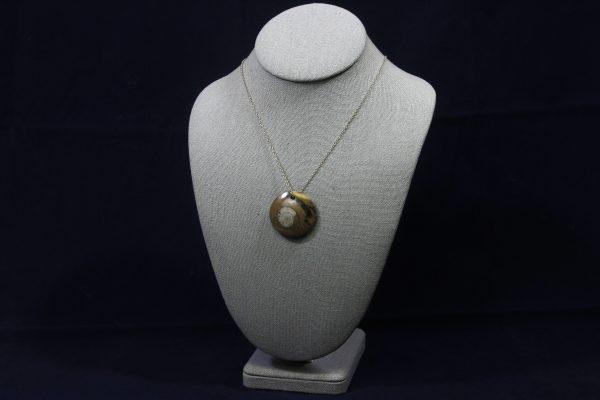 Round Ammonite Fossil Pendant