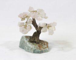 Small Rose Quartz Crystal Gemstone Tree