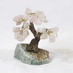 Rose Quartz Crystal Gemstone Tree Small