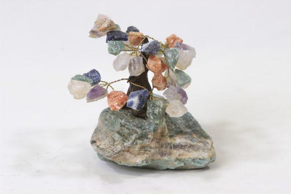 Mixed Gemstone Crystal Points Tree with Amazonite Base