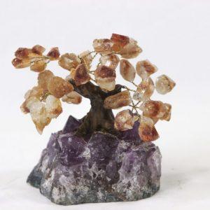 Citrine Crystal Point Tree Small