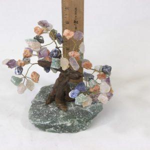 Mixed Gemstone Crystal Points Tree with Aventurine Base Medium