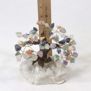 Mixed Crystal Gemstone Tree with Crystal Base