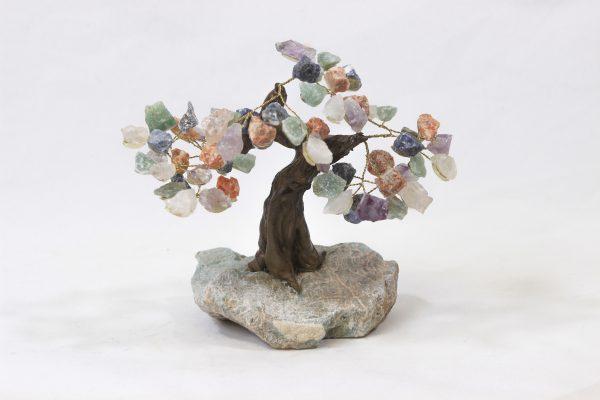Medium Mixed Gemstone Crystal Points Tree with Amazonite Base